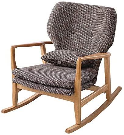 Sillón cómodo Relax cómoda Mecedora Sillón con la Tela de algodón Enviar un Regalo a los Ancianos Mecedora Relax (Color : Photo Color, Size : M)