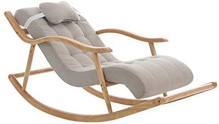 Y&MoD Mecedora de Salón Silla de Relax Sillón Mecedora de Madera para Salón Oficina Terraza Carga 150Kg