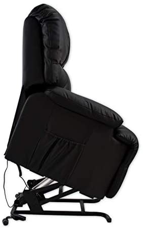 ABDC NEW Delta Shop - Sillon Masaje Relax LEVANTAPERSONAS 8 Motores + Calor Lumbar - Color Negro