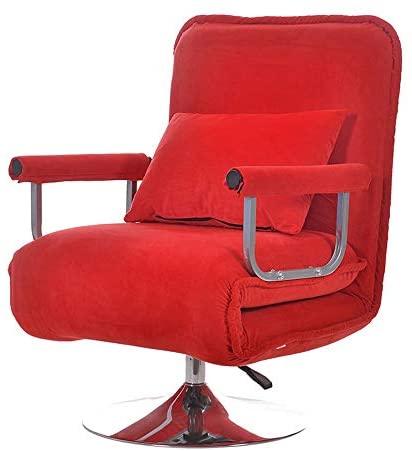 Allibuy Sofá Silla reclinable Multifunción de pie Moderna de Tela Mecedora Chairwith Ajustable del reposapiés y la Base de 6 Colores Ocio Sillón Sala de Estar Sillón reclinable Retro