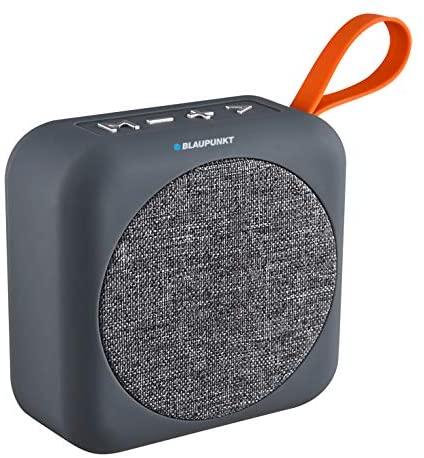 Blaupunkt BLP3610 Altavoz Bluetooth, Portátil, Potencia Sonido 3W, Subwoofer, Alcance 10m, USB, Micro-SD, Inalámbrico, Batería Recargable, Gris