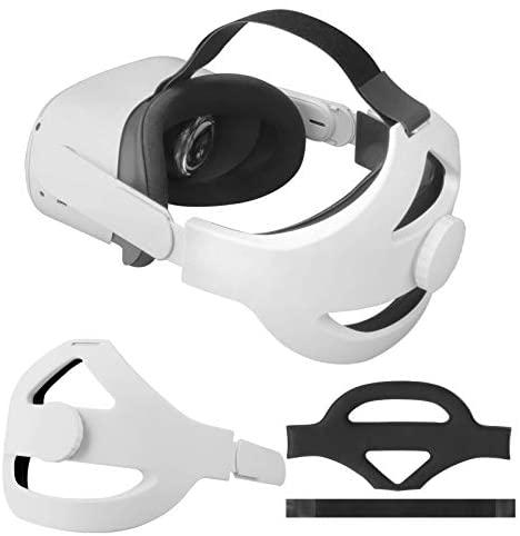Correa para la Cabeza para Auriculares Oculus Quest 2 Venda Reemplazo de Venda para la Correa Elite para Oculus Quest 2 Reducir la Presión de la Cabeza Toque Cómodo Accesorios VR de Oculus Quest 2