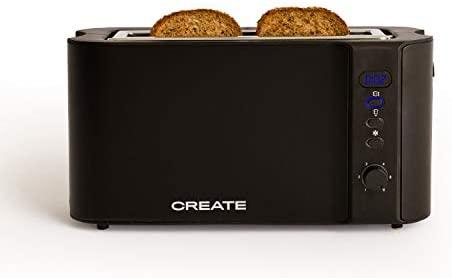 IKOHS Create Toast Advance Pro - Tostadora eléctrica con Pantalla Digital (Negro Mate)