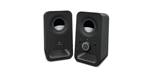 Logitech Z150 Sistema de Altavoces Compacto, Entrada Audio 3.5 mm, Controles Intregados, Toma Auriculares, Enchufe EU, Ordenador/Smartphone/Tablet/Reproductor de Música, Negro