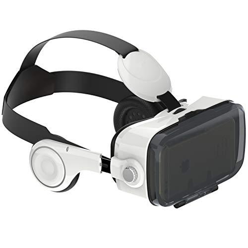 """NK GF3114 - Gafas con Visor Adaptador 3D Realidad Virtual VR - De 4.7"""" a 6.2"""", Smartphone, con Auriculares, Ángulo de visión 100°, Lente 42mm, Android & iOS"""