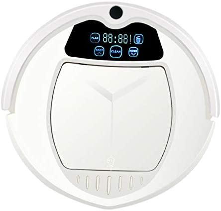 Robots Aspiradores y Fregasuelos,3 Modos de Limpieza,Ultra Delgad,Sensores,90min Tiempo de Trabajo y Auto-Carga,Alfombras y Pelo de Mascotas,1800pa,Blanco
