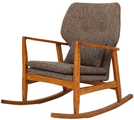 YaGFeng Mecedora Habitación cómoda Silla Mecedora Ocio Estar Sofá Sillón Sillón tapizado de Asiento Mecedoras para los Adultos (Color : Gray, Size : 60x93x81cm)
