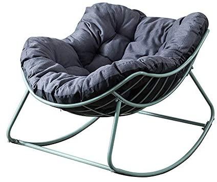 YaGFeng Mecedora Inicio Ocio Mecedora cómodo del sillón reclinable Acolchonadas Muy Adecuado for Sala de Estar Dormitorio balcón Mecedoras para los Adultos (Color : Green, Size : 110x79cm)