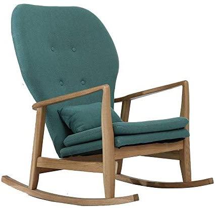 ZJN-JN Silla Mecedora cómodo relaja la Silla Mecedora Sillón Relax Silla for Ministerio del Interior o Relajarse Silla (Color: Verde, Tamaño: 60x93x81cm)