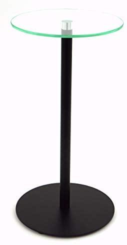 freeroom24 Mesa auxiliar, mesa de flores, columna decorativa, en negro mate, diámetro de 20 cm, diferentes alturas (20 cm, 50)