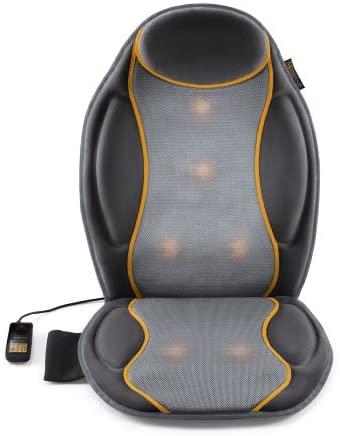 Medisana MC 810 Funda de asiento de coche, funda de masaje con masaje de vibración, 9 programas de masaje, funda de asiento de masaje con 3 intensidades, para hombro, espalda, cintura y muslo