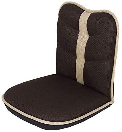 PXX Sillas con Apoyabrazos Acolchado Juego Cómodo Espalda Posición Ajustable Silla Suelo de Memoria para Sala de Estar Dormitorio de Recepción,Marrón,90Cm * 50Cm * 11Cm