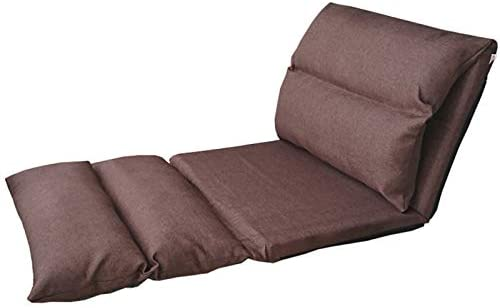 WHOJA Sillón Reclinable Ajuste de 6 velocidades Plegado extendido Fácil de Quitar y Lavar Sentada cómoda Humedad Transpirable Ocio atrás Cama de Tela Sillon Relax (Color : Brown)