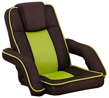 WHOJA Sillón Reclinable Silla Plegable para computadora Ajuste de 14 velocidades Apoyabrazos de varillaje Malla Transpirable habitación Pequeño sofá Sillon Relax (Color : Green)