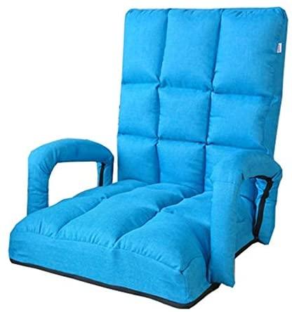 WHOJA Sillón Reclinable Sofá Plegable Individual Ajuste de 5 velocidades con reposabrazos Cómodo sin piernas Sillón Dormitorio Sala de Estar Sillón Sillon Relax (Color : Blue)
