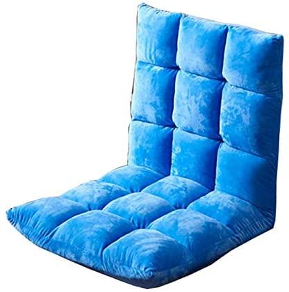 WHOJA Sofá Perezoso Ajuste de 5 velocidades Sofá Individual Lavable Silla Perezosa Plegable Sillon Relax (Color : Sky Blue)