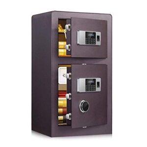 Caja fuerte de alta seguridad Bloqueo digital de huellas dactilares y bloqueo de contraseña Caja fuerte biométrica, caja fuerte para gabinetes Cajas fuertes para gabinetes montadas en la pared (Color:
