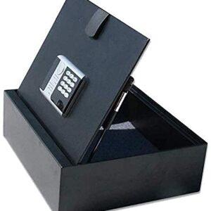 Cajas fuertes y hucha, cajas de seguridad para el hogar, cajas fuertes y cerraduras de puertas Caja fuerte de seguridad de acero de perfil bajo con cerradura digital estilo hotel, caja para esconder