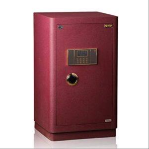 LIFEIYAN Caja De Seguridad Electrónica, 80cm De Alta Caja Fuerte De Gran Oficina En Casa Serie De Élite Certificada 3C Rojo Caja De Seguridad segura casa inteligente